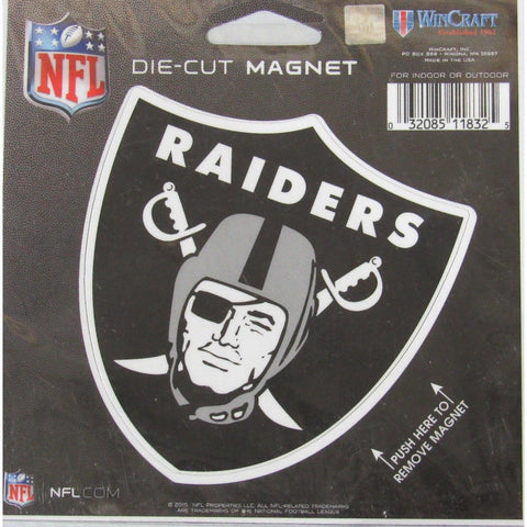 NFL Oakland Raiders Logo 4 inch Auto Magnet by WinCraft