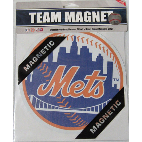 MLB New York Mets 8 Inch Auto Magnet 2-tone Ball by Fremont Die