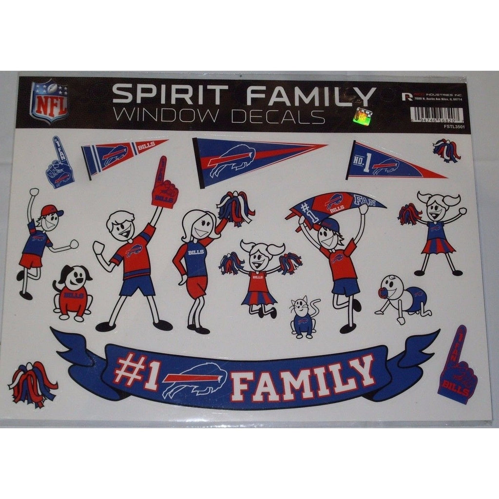 Nfl Buffalo Bills Spirit Family Decals Set Of 17 By Rico Industries