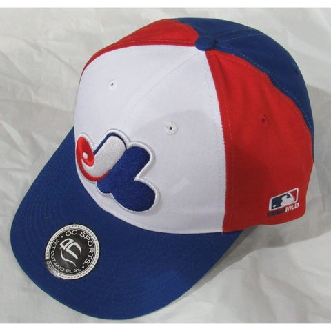 MLB Montreal Expos Adult Cap Cooperstown Raised Replica Cotton Twill Hat