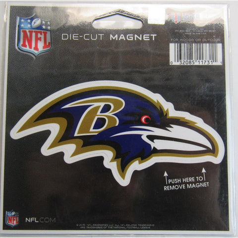 NFL Baltimore Ravens Logo 4 inch Auto Magnet by WinCraft