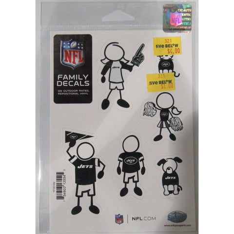 NFL New York Jets Spirit Family Decals Set of 6 by Siskiyou Sports