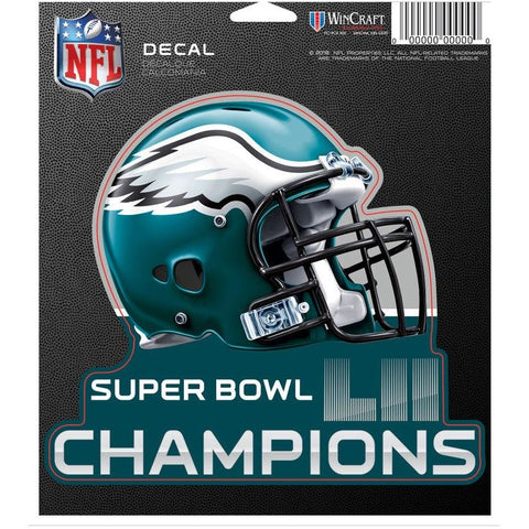 Philadelphia Eagles Super Bowl LII 5 x 6 Helmet Decal WinCraft