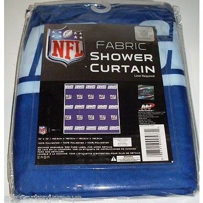 NFL 72 X 72 Inch Fabric Shower Curtain New York Giants