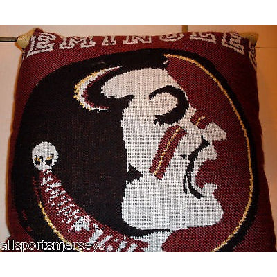 NCAA NWT 20x20  JACQUARD PILLOW-FLORIDA STATE SEMINOLES