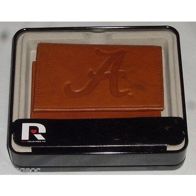 NCAA Alabama Crimson Tide Embossed TriFold Leather Wallet With Gift Box