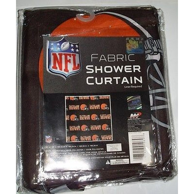 NFL 72 X 72 Inch Fabric Shower Curtain Cleveland Browns