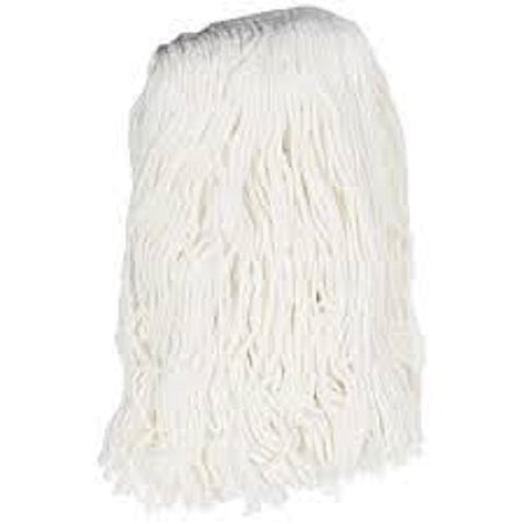 "Mop Head 24 oz 1"" Headband Wet Mop Cut-End Finish Rayon White 24Z-CR1W"