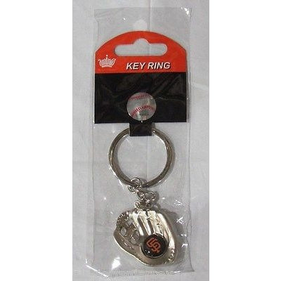 MLB Chrome Glove With Logo in Palm Key Chain San Francisco Giants AMINCO