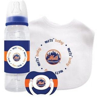MLB New York Mets Baby Feeding Gift Set by baby fanatic