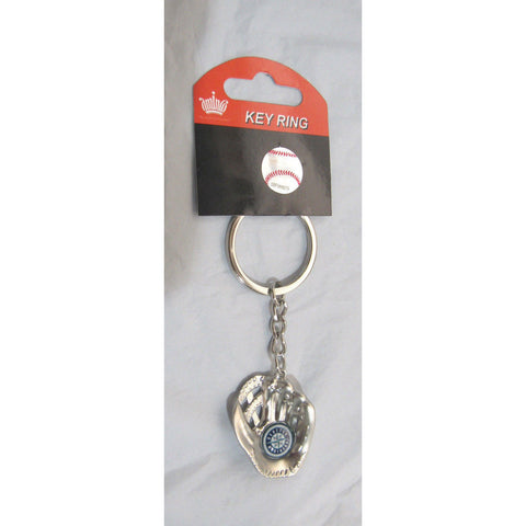 MLB Chrome Glove With Logo in Palm Key Chain Seattle Mariners AMINCO