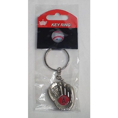 MLB Chrome Glove With Logo in Palm Key Chain Anaheim Angels AMINCO