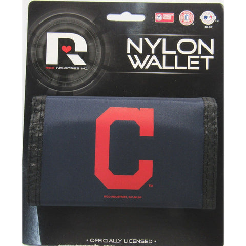 MLB Cleveland Indians Tri-fold Nylon Wallet with Printed Logo