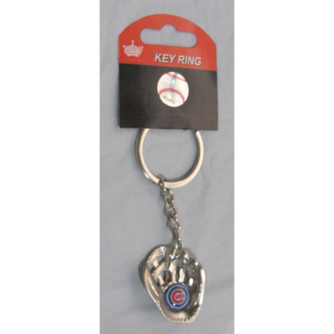 MLB Chrome Glove With Logo in Palm Key Chain Chicago Cubs AMINCO