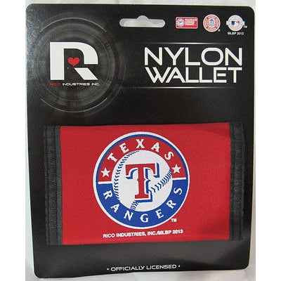 MLB Texas Rangers Tri-fold Nylon Wallet with Printed Logo