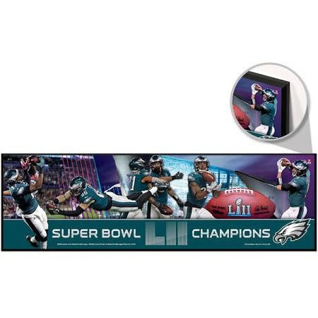 "Philadelphia Eagles Super Bowl LII Wooden Sign 9"" by 30""WinCraft"