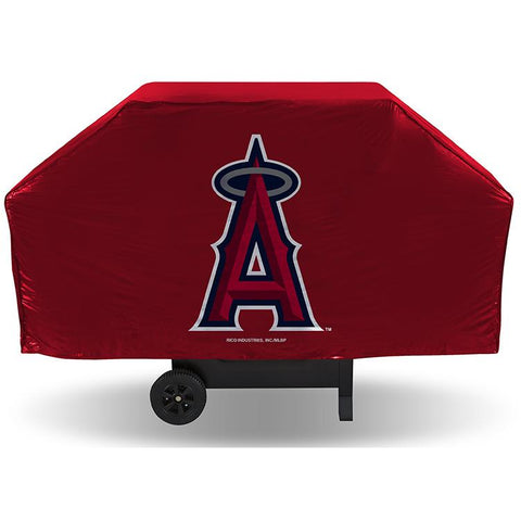 MLB Los Angeles Angels 68 Inch Red Vinyl Economy Gas / Charcoal Grill Cover