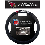 NFL Arizona Cardinals Poly-Suede Mesh Steering Wheel Cover by Fremont Die