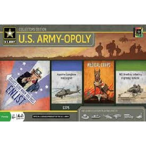 U.S. Army-opoly (Monopoly) Junior Board Game Masterpieces Puzzles Co