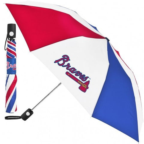 MLB Travel Umbrella Atlanta Braves 3 Color By McArthur For Windcraft