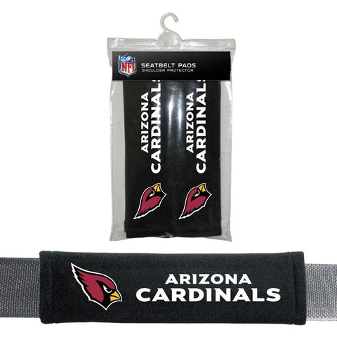 NFL Arizona Cardinals Velour Seat Belt Pads 2 Pack by Fremont Die