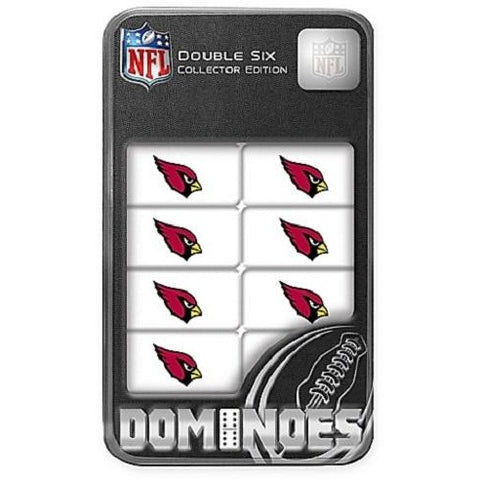 NFL Arizona Cardinals White Dominoes Game by Masterpieces Puzzles Co