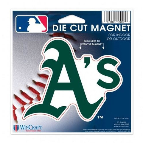 MLB Oakland Athletics Logo 4 inch Auto Magnet by WinCraft