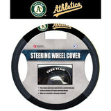 MLB POLY-SUEDE MESH STEERING WHEEL COVER OAKLAND ATHLETICS