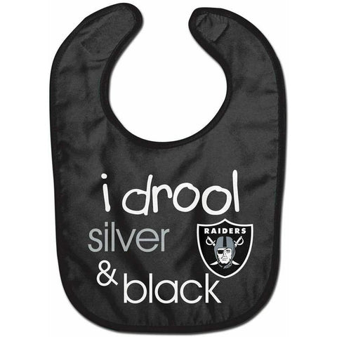 NFL Las Vegas Raiders Infant ALL PRO Baby Bib i drool silver & black