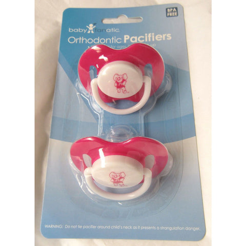 NCAA Alabama Crimson Tide Pink Pacifiers Set of 2 w/ Solid Shield on Card