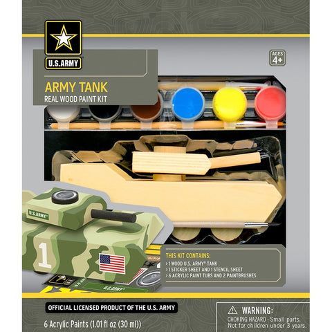 MasterPieces Works of Ahhh... Army Tank Wood Paint Kit