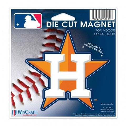 MLB Houston Astros Alternate Logo 4 inch Auto Magnet by WinCraft