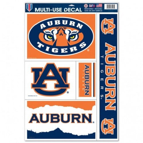 NCAA Auburn Tigers Ultra Decals Set of 5 By WINCRAFT