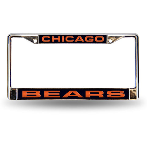 NFL Chicago Bears Laser Cut Chrome License Plate Frame