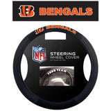 NFL Cincinnati Bengals Poly-Suede Mesh Steering Wheel Cover by Fremont Die