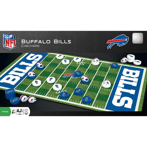 NFL Buffalo Bills Checkers Game by Masterpieces Puzzles Co.