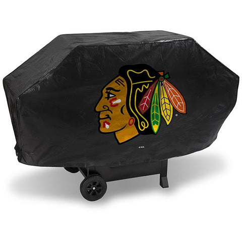 NHL Chicago Blackhawks 68 Inch Deluxe Vinyl Padded Grill Cover by Rico Industries