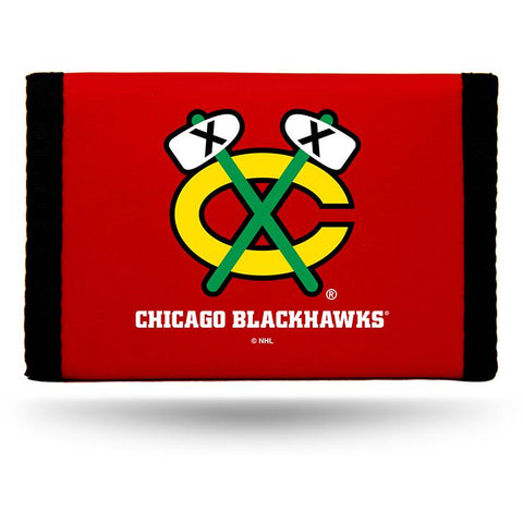 NHL Chicago Blackhawks Tri-fold Nylon Wallet with Printed ALT Logo