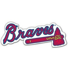 MLB Atlanta Braves Logo on 12 inch Auto Magnet