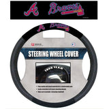 MLB POLY-SUEDE MESH STEERING WHEEL COVER ATLANTA BRAVES