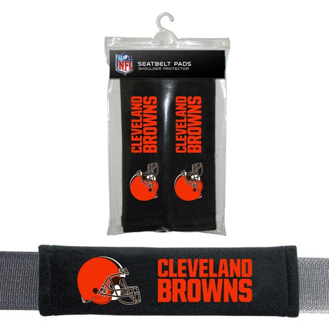NFL Cleveland Browns Velour Seat Belt Pads 2 Pack by Fremont Die