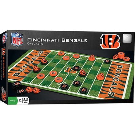 NFL Cincinnati Bengals Checkers Game by Masterpieces Puzzles Co.