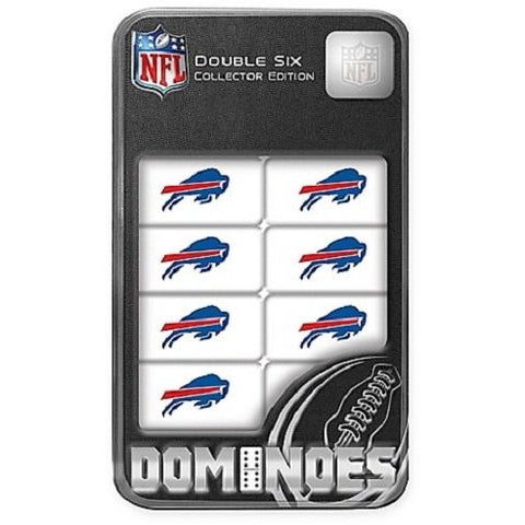 NFL Buffalo Bills White Dominoes Game by Masterpieces Puzzles Co