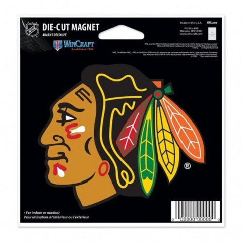 NHL Chicago Blackhawks Current Logo 4 inch Auto Magnet by WinCraft