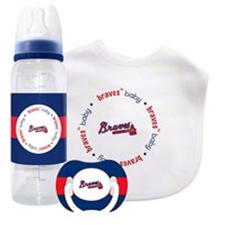 MLB Atlanta Braves Gift Set Bottle Bib Pacifier by baby fanatic