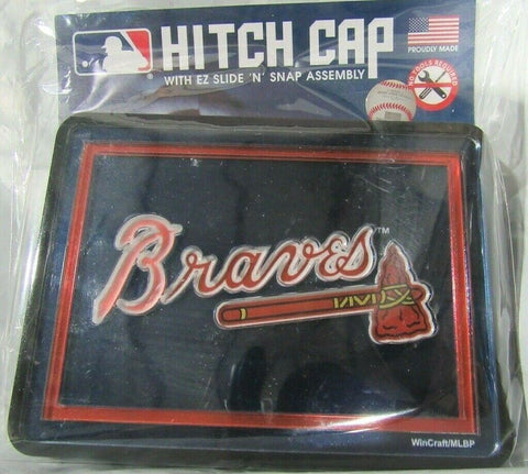 MLB Atlanta Braves Laser Cut Trailer Hitch Cap Universal Fit by WinCraft