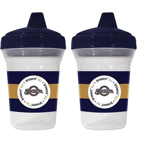 MLB Milwaukee Brewers Toddlers Sippy Cup 5 oz. 2-Pack by baby fanatic