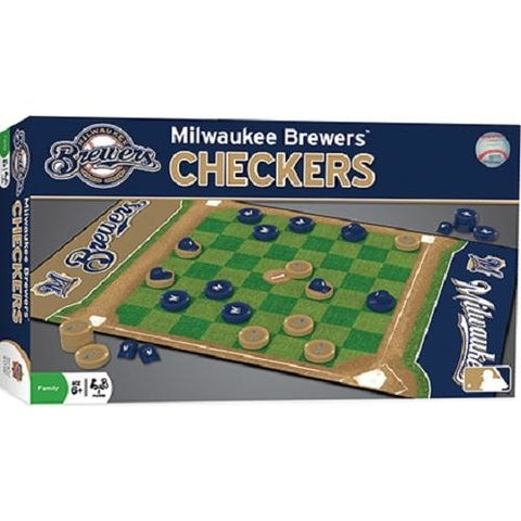 MLB Milwaukee Brewers Checkers Game by Masterpieces Puzzles Co.
