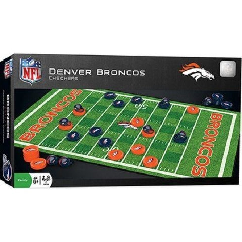 NFL Denver Broncos Checkers Game by Masterpieces Puzzles Co.