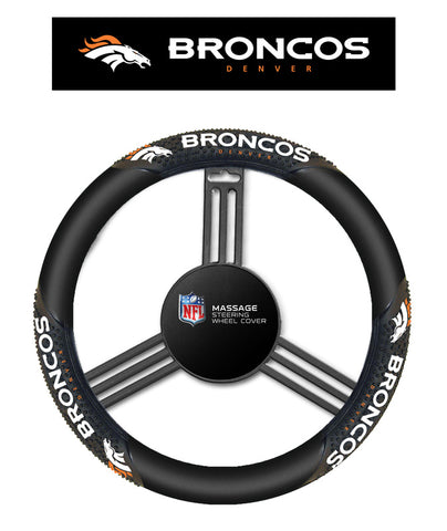 NFL Denver Broncos Massage Steering Wheel Cover By Fremont Die
